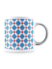 Multicolor Abstract Square Pattern Ceramic Mug - By