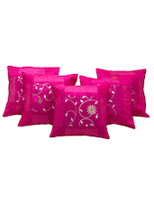 Designer Booti Embroidered 5 Pc Cushion Covers Set 502 - By