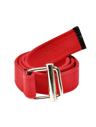red canvas belt