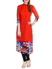 red georgette kurti -  online shopping for kurtis