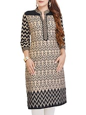 beige cotton straight kurti -  online shopping for kurtis