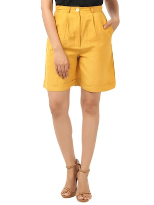 yellow cotton short