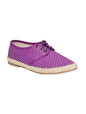 purple canvas lace up sneakers -  online shopping for Sneakers
