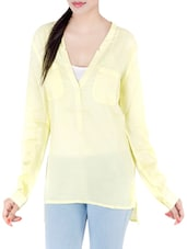 yellow cotton top -  online shopping for Tops