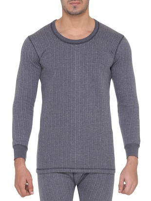 grey acroblend thermal top -  online shopping for Thermal Tops
