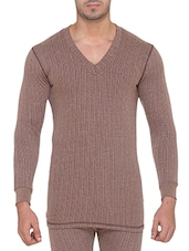 brown acroblend thermal top -  online shopping for Thermal Tops