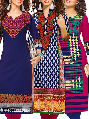 multi cotton combos kurti