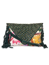 Multicoloured Patchwork-detailed Fringed Handbag - By