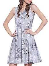 grey cotton aline dress -  online shopping for Dresses