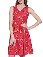 pink cotton aline dress -  online shopping for Dresses