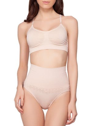 beige cotton shaper brief