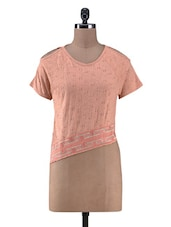 Peach Cotton Embroidered Top - By