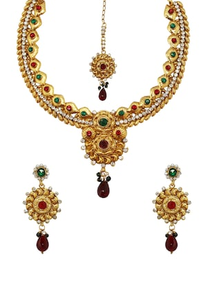 Multi gold plated necklace