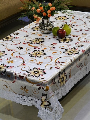 Multicolor PVC Printed Laced Table Cover