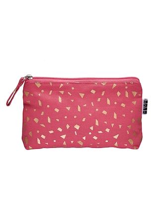 Pink canvas printed pouch -  online shopping for Pouches