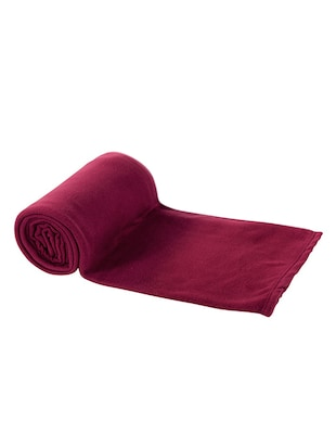 BSB TRENDZ  RED PLAIN SINGLE BED FLEECE BLANKET