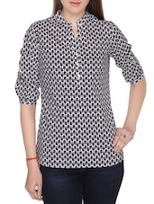 black cotton printed top -  online shopping for Tops