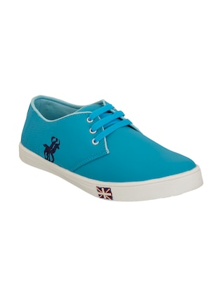 blue synthetic lace up sneakers -  online shopping for Sneakers