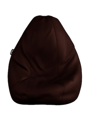 Story @ Home GIANT Designer Recliner Bean Choclate Brown Faux Leather Bean Bag Chair - XL Seriously Man Size Bean Bags