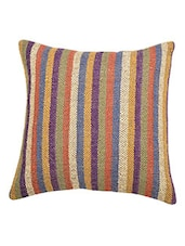 Indian Hand Woven Vintage Jute kilim Woolen Cushion Cover -  online shopping for Cushion Covers