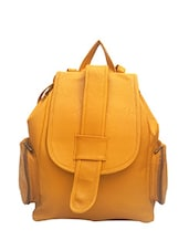 yellow leatherette  backpack -  online shopping for backpacks