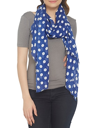 blue viscose scarf