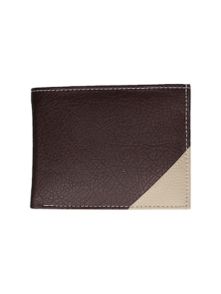 brown leatherette wallet