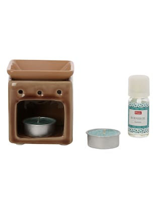 Blue Ceramic Jasmine Burner Set -  online shopping for Reed diffusers