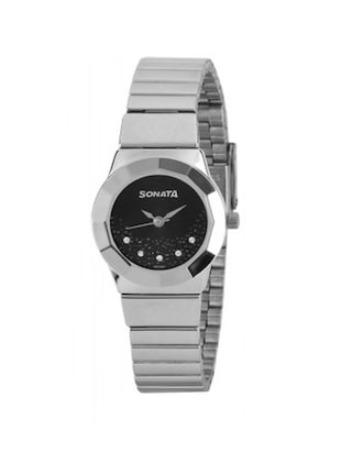 Sonata Eva Analog Black Dial Women's Watch - 8981SM01