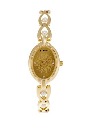 Sonata Analog Gold Dial Women's Watch - 8048YM12 -  online shopping for Wrist watches