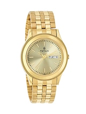 Titan Analog Gold Dial Men's Watch - 1648YM05 -  online shopping for Analog Watches