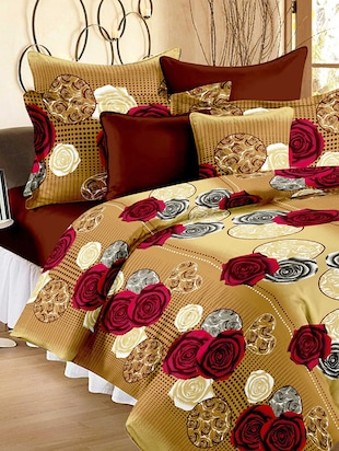 Story @ Home Cotton Brown 1 Double Bedsheet With 2 Pillow Cover -  online shopping for bed sheet sets