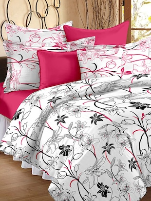 Story @ Home 186 TC 100% Cotton White 1 Double Bedsheet With 2 Pillow Cover -  online shopping for bed sheet sets