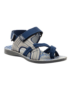 blue synthetic slip on mojaris  available at Limeroad for Rs.499