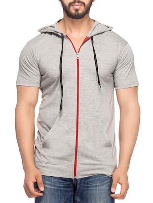 solid grey cotton sweatshirt -  online shopping for Sweatshirts