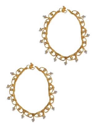 gold brass anklets and payal -  online shopping for Anklets and Payals