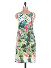 Muliticolor Crepe Printed Non-Functional Buttons Kurta - By