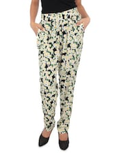Multicolored Floral Printed Viscose Pants - By