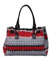 Multicolored Printed Canvas Handbag - By