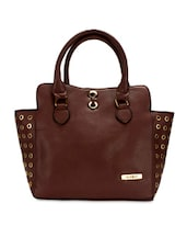 Dark Brown Cut-work Detailed Handbag - By