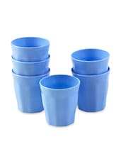 Blue Food Grade Plastic Drinking Glass Set - By