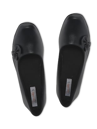 Black Imported Foam Leather Slip-on Shoes