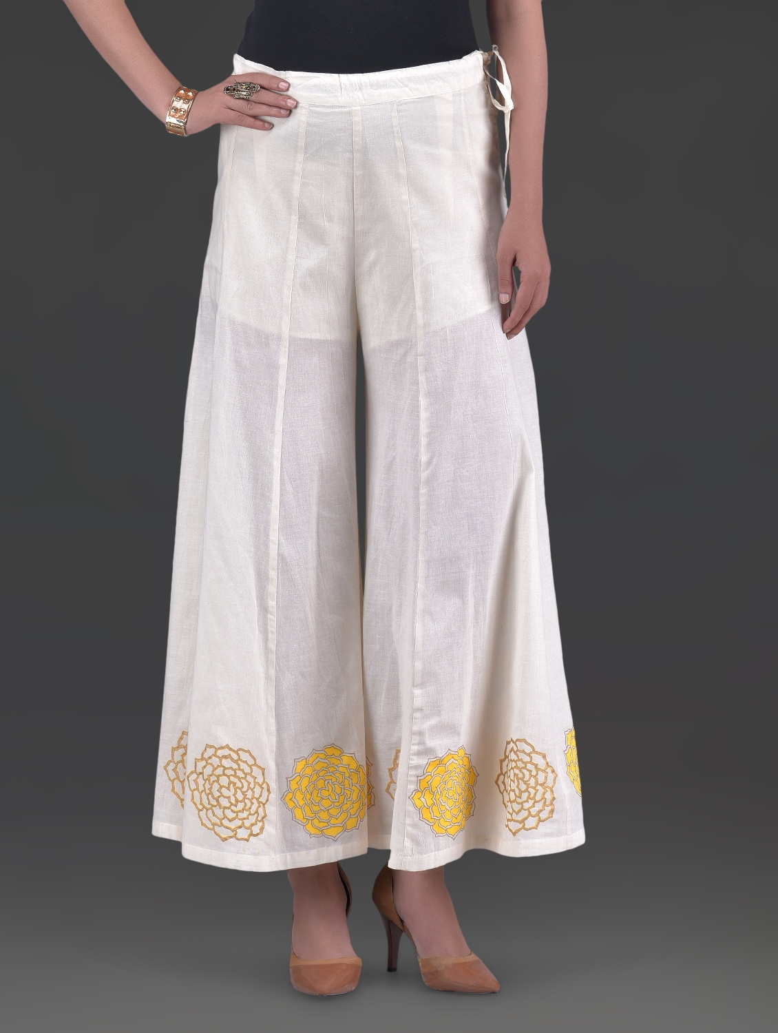 Widen your wardrobe repertoire with wide leg trousers. Taking you from desk to drinks, the high waisted and cropped ones spell sheer elegance. Pair with a top and mules for a perfect off-duty choice, or opt for print and linen styles for a transitional look.