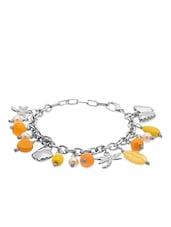 Silver Beads Embellished Bracelet - By