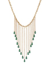 Golden Metallic Studded Necklace - By