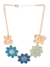 Golden Metallic Embellished Necklace - By - 1264859