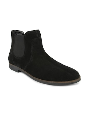 Black Leatherette Boots