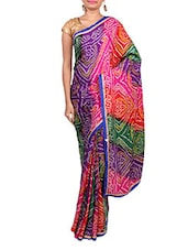 Multicolor Art Silk Saree - By
