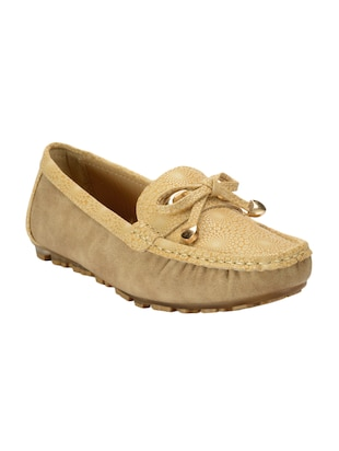beige slip on mocassins