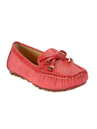 red slip on mocassins